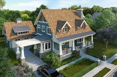 House Plan 1907-00031 - A stunning Country House Plan with awesome exterior; expansive front covered porch, rear entertaining space and a portico leading to the detached garage. The home's interior offers approximately 1,825 square feet of living space with three bedrooms and three baths.