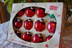 Dozen Vintage Glass Christmas Ornaments by MellyMcBlueTreasures, $10.00