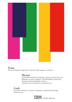 A piece from the iconic work Paul Rand has done for IBM Latin America.