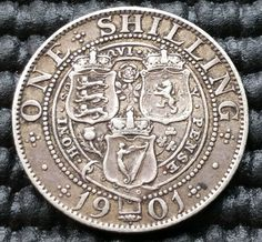 1901 Queen Victoria Silver One Shilling Coin KM# 780 English Coins, Coin Display, Gold And Silver Coins, Old Money, World Coins, Rare Coins, Queen Victoria, British History, Coin Collecting