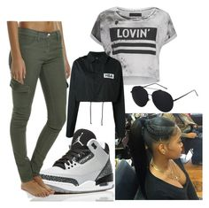 """""""Wolf grey 3s"""" by zoelh178 ❤ liked on Polyvore featuring Retrò, Rusty, Religion Clothing and Hood by Air"""
