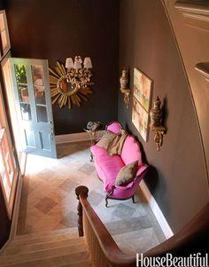 The Decorista-Domestic Bliss: NEEDING. WANTING. LOVING. a pretty pink sofa