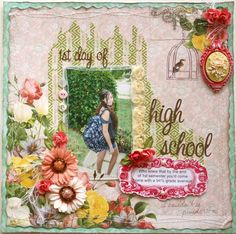 1st Day of High School **Websters Pages Modern Romance** - Scrapbook.com