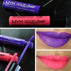 NYX Liquid Suede Cream Lipstick #brightlips #paintedladies #lipcolor Neutral Lipstick, Liquid Suede Cream Lipstick, Lipstick Tube, Lip Makeup, Beauty Makeup, Bright Lips, Makeup Swatches, Blog Love, Beauty Review