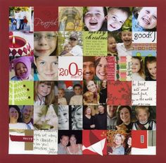 Collage of punched images from holiday cards received. Great annual tradition!