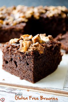 Fudgy Gluten Free Brownies are so good that you should try even if you don't have celiac disease. These are so moist! Rice flour works really fine.