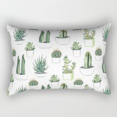 Buy watercolour cacti and succulent Rectangular Pillow by Vicky Webb. Worldwide shipping available at Society6.com. Just one of millions of high quality products available.