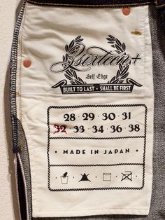 Pocket labelling on Straight Leg Indigo by Denim Heads Vintage Wear, Vintage Denim, Japanese Selvedge Denim, Denim Ideas, Denim Branding, Textiles, Vintage Japanese, Denim Fashion, Indigo