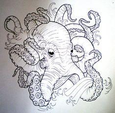 tumblr mflwk3llr41s0hhjro1 500 Octopus Tattoo Drawings