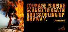 Be courageous. It may be scary but #toughmudder2016 will be worth it.
