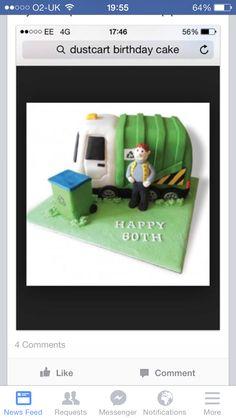 Dustbin lorry cake
