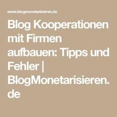 Blog Kooperationen mit Firmen aufbauen: Tipps und Fehler   BlogMonetarisieren.de