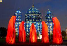Festival of Lights Berlin. AP photo Britta Pederson
