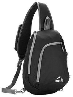 Venture Pal Sling Shoulder Crossbody Bag Lightweight Hiking Outdoor Travel Backpack Daypacks (Black). For product & price info go to:  https://all4hiking.com/products/venture-pal-sling-shoulder-crossbody-bag-lightweight-hiking-outdoor-travel-backpack-daypacks-black/