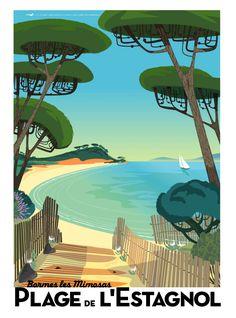 Plage de L'Estagnol Bormes Les Mimosas- L'une de mes plages préférées à coté du fort Brégançon; demeure estivale de nos Présidents. Le sable y est doux, et la vue à vous couper le souffle. Un petit paradis encore préservé de la côte d'Azur--Richard Zielenkiewicz