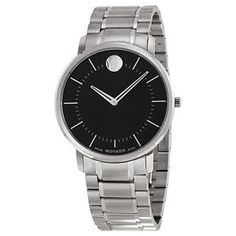 Movado Gents Watch W/ Black Dial And Stainless Bracelet Style# 0606687