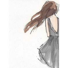 Pin do(a) charles hulm em fashion illustration watercolor art, drawings Art And Illustration, Art Sketches, Art Drawings, Watercolor Dress, Watercolor Sketch, Simple Watercolor, Watercolor Paintings, Watercolor Fashion, Arte Sketchbook