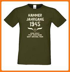 Geschenk-Idee zum 72. Geburtstag :-: Herren Geburtstags T-Shirt mit Jahreszahl :-: Hammer Jahrgang 1945 :-: Geburtstagsgeschenk Männer :-: Farbe: khaki Gr: S (*Partner Link)