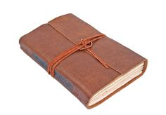 Brown Leather Journal / Handmade Journal / Rustic Journal / Tea Stained Paper /BoundByHand / Ready to Ship by boundbyhand on Etsy https://www.etsy.com/listing/235182079/brown-leather-journal-handmade-journal