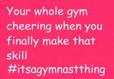 :) love this and cheering your teammates when they get a skill