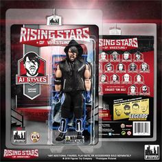 Rising Stars of Wrestling Series: AJ Styles Black/Blue Outfit Action Figure