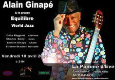Alain Ginapé & Le Groupe Equilibre-World Jazz en concert le 10 avril 2015 à Paris (75).