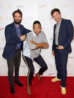 Star Tracks: Thursday, September 10, 2015 | FUNNY GUYS | Aisha Tyler and brothers Mark and Jay Duplass know how to work a red carpet as they attend the Television Academy Celebrates Interactive Media Nominees for the Emmy Awards on Wednesday in Beverly Hills.