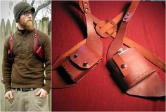VICE HOLSTER   FOR CIGARETTES AND FLASK