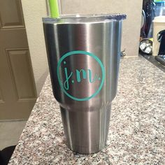 Yeti Tumbler Decal Yeti Decal Yeti Rambler Decal by CircleLDesigns