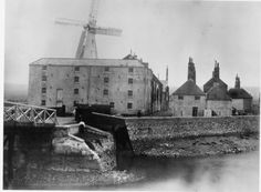 Bishopstone tide mills, near Newhaven c1883. There was a watermill on this site since Domesday times and the first specific mention of a windmill in Sussex was at Bishopstone in 1190,but this example dated from 1778,with the Windmill being added later in the 1860s to work the sack hoist. Despite the size of the mill it was nevertheless unable to compete with the new power mills and was closed down in 1890 and demolished in the First World War,although parts survived until the late 1940s.