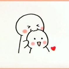 Cute Doodles Drawings, Cute Doodle Art, Cute Disney Drawings, Cute Easy Drawings, Cute Cartoon Drawings, Art Drawings Sketches Simple, Kawaii Drawings, Best Friends Cartoon, Drawings For Boyfriend