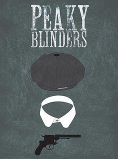 Peaky Blinders (2013–) ~ Minimal TV Series Poster by Lauren Parker #amusementphile