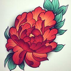 Rose Tattoos, Flower Tattoos, Body Art Tattoos, Sleeve Tattoos, Japanese Peony Tattoo, Japanese Flowers, Neotraditionelles Tattoo, Cover Tattoo, Flor Oriental Tattoo