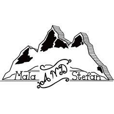 Hand-drawn logo for Mala & Stefan volery.