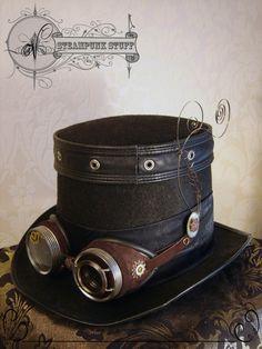 steampunksteampunk:  Steam-Aristokrat Top Hat and Goggles