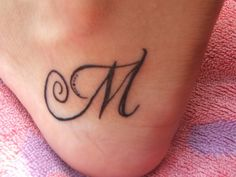 ImageFind images and videos about tattoo, tatoo and Letter on We Heart It - the app to get lost in what you love. Mini Tattoos, Body Art Tattoos, Tatoos, Letter M Tattoos, Tattoo Catalog, Airplane Tattoos, Tattoo Designs Wrist, Infinity Tattoos, Pretty Tattoos