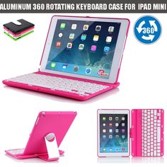 42.75$  Buy here - http://ali9ut.shopchina.info/go.php?t=32723833581 - Bluetooth Keyboard teclado para tablet clavier Bluetooth Wireless Aluminum 360 Swivel Rotating Keyboard Case for iPad Mini 1 2 3 42.75$ #buyonlinewebsite