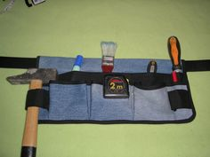 Tuto of the tool belt - diygift Sewing Projects For Kids, Diy Projects To Try, Operation Christmas Child, Tool Belt, Couture Sewing, Hair Photo, Diy Cadeau, Voici, Halloween Costumes