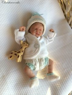 OOAK Hand Sculpted Mini Polymer Clay Baby Art Doll Miniature Boy | eBay