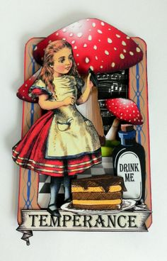 I'm kicking off the New Year with a trip to Wonderland where anything is possible. When I saw this month's kit at Alpha Stamps all I could think of was Alice, and with a set of Alice tarot cards you c
