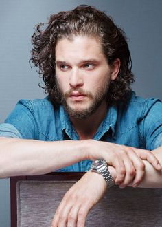 maibetomorrow:  mancandykings:  Kit Harington photographed by Olivier Vigerie (2015)   He looks so different with light hair