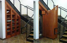 Creative Home Engineering specializes in hidden doors and secret passageways. Hidden Panic Rooms, Hidden Rooms, Hidden Closet, Secret Closet, Passage Secret, Hidden Passageways, Home Engineering, Hidden Spaces, Casa Clean