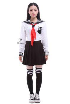 USA Size Japan School Girls Sailor Dress Shirts Uniforms Cosplay Costumes White Navy School Uniform  #kids #YLEY #WomenWallets #L09582 #bagshop #fashion #backpack #shoulderbags #bag #Happy4Sales #handbags #highschool  #School