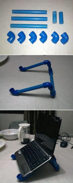 PVC Projects: Laptop Stand From PVC Pipes! Like us on facebook! facebook.com/poolcoolers