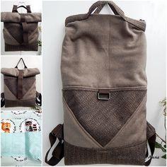 Tote backpack - háromszög zsebbel Tote Backpack, Leather Backpack, Backpacks, Bags, Handbags, Leather Backpacks, Backpack, Backpacker, Bag