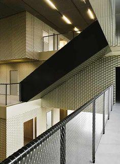 library, cobe, expanded metal facade