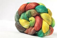 NEW BLEND Superfine Merino Wool / Banana Top Fiber by FeltedChoice, $13.60