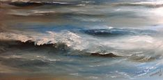 Wave Painting Original Seascape Painting Oil Painting Canvas