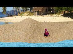 pálaro rosa en blender - día de playa