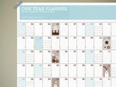Stamp sheet wall planner by Present & Correct Wall Planner, Year Planner, Bill Organization, My Diary, Filofax, How To Plan, How To Make, Stamp, Graphic Design